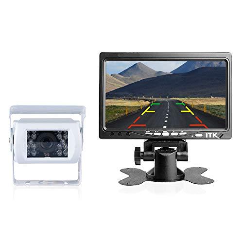 Caméra de recul sans Fils - Camping-Car/Utilitaire/Camion - Étanche - Vision de Nuit avec 18 LEDs Infrarouges - Écran LCD 7' - Aide au stationnement - ITK Technology (ITKC900WR700WF)