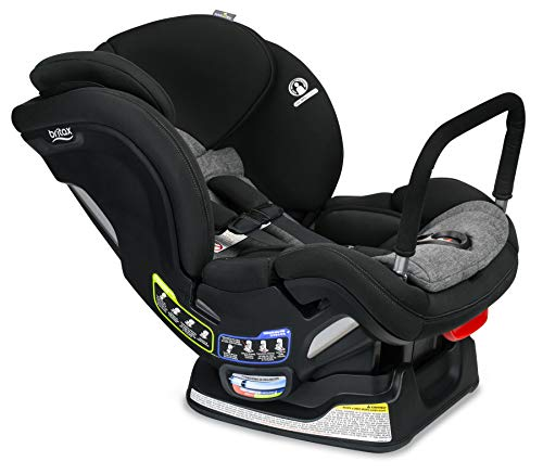 Britax USA Boulevard ClickTight Anti-Rebound Bar Convertible Car Seat - 2 Layer Impact Protection - Rear & Forward Facing - 5 to 65 Pounds, StayClean Fabric with Nanotex Technology, Grey