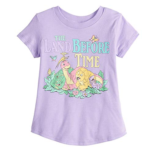 Jumping Beans Little Girls' Toddler 2T-5T Dino Friends Land Before TIME 3T LT Pink