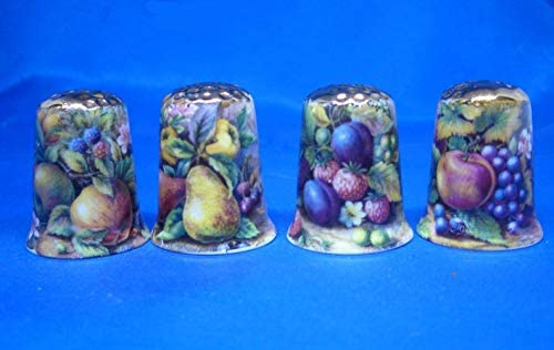 Birchcroft Porcelain China Collectable - Set of Four Thimbles -