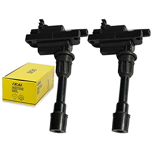 DEAL AUTO ELECTRIC PARTS Pack of 2 New Ignition Coil Plug Compatible With 01-03 Protege 02-03 Protege5 L4 2.0L Replacement For UF407 C1340