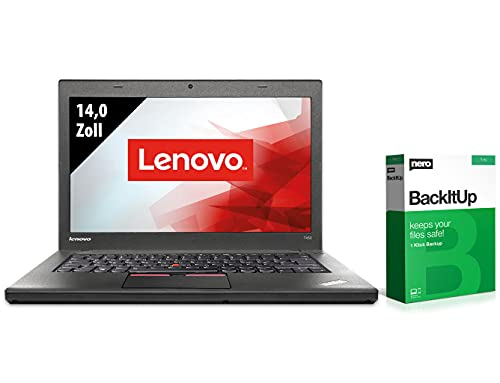 Lenovo ThinkPad T450-14,0 Zoll - Core i5-5300U @ 2,3 GHz - 8GB RAM - 500GB SSD - WXGA (1366x768) - Webcam - Win10Home (Zertifiziert und Generalüberholt)