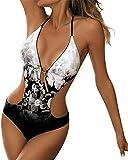 Mujer Ropa de Baño Tops de Bikini con Relleno Traje de Baño Push up Bañador de Cuello Hálter Mujer Push-up Bikini Sujetador Bikini Parte de Arriba Top Traje de Baño