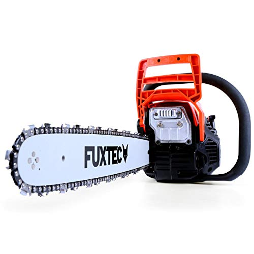 FUXTEC Profi Benzin Kettensäge FX-KSP155 Schwert 45 cm Kette 55 cc Motorsäge MS Motorkettensäge PS Säge Testnote 1,7 Oberklasse