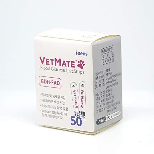 VETMATE 50 Teststreifen Blätter Hund Katze Diabetische Blutzuckermessgerät Meter [parallel Import]