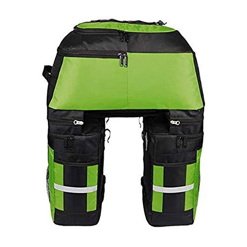 Multifunktion Fahrrad Gepäcktaschen Mit Regenschutz,3 in 1 Multifunction 70L Gepäckträger Tasche Reißfest Groß Fahrradtaschen Mit Regen-Abdeckung,Grün