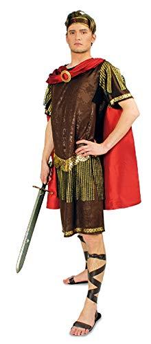 K31250840-54-56-A - Disfraz de mujer romano (tallas 54-56), color marrn y rojo