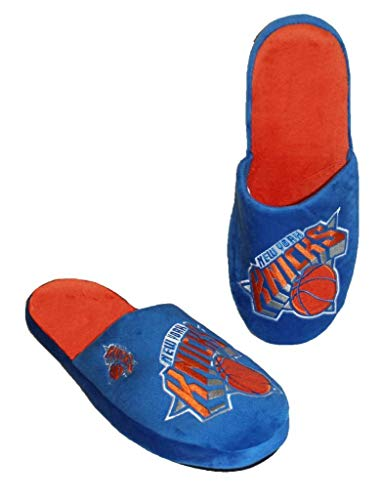 FOCO NBA New York Knicks Men's Slip On Slippers Size Large 11-12