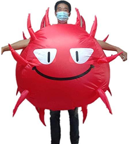 TBBE Traje inflable divertido soplar mono Halloween Navidad disfraz