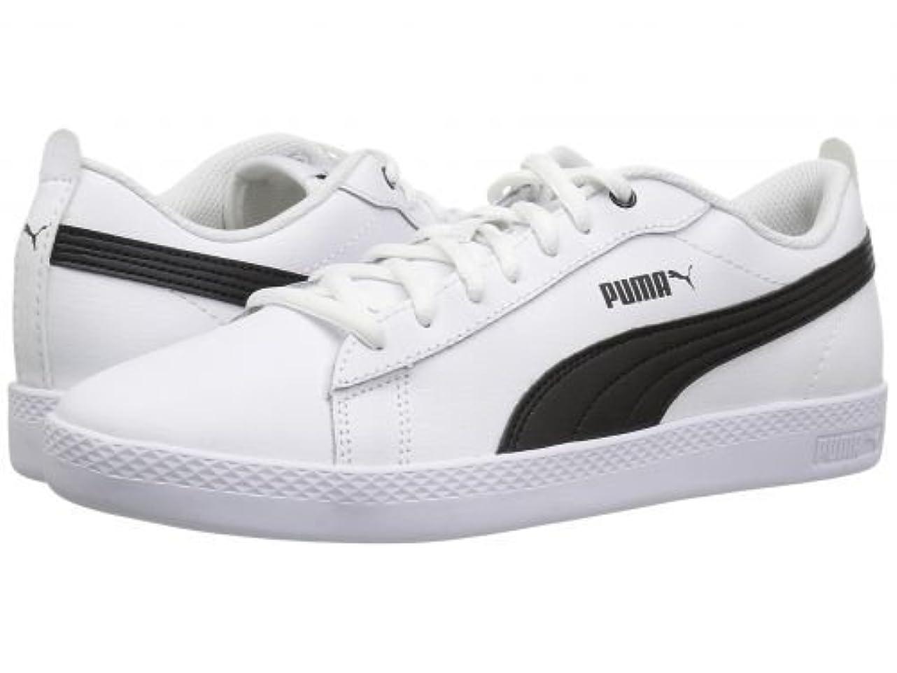 どうやって誰が郡PUMA(プーマ) レディース 女性用 シューズ 靴 スニーカー 運動靴 Smash V2 L - White/Black [並行輸入品]