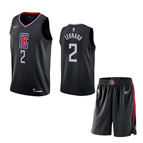 YDYL-LI Der New-Herren-Basketball Jersey Clippers # 2 Kawhi Leonard Spiel Jersey Sport Kleidung Loser - Atmungsaktiv, T-Shirt + Shorts, (Set),XXL(190CM/95~110Kg)