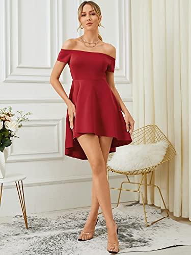 YOINS Mujer Vestidos Casual Corto Vestido Verano Sin Hombros Camiseta Elegante Vestido para Mujer de Fiesta Cóctel
