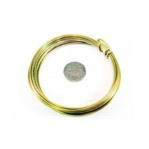 1 x D\'Oro Turno Ottone Filo Mestiere 4 Metro x 1.0mm Rotolo - (W9100) - Charming Beads