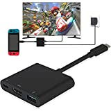 Adaptateur HDMI pour Switch USB Type C vers 4K 1080 HDMI Convertisseur Cȃble pour Switch/Macbook Pro/Galaxy S8