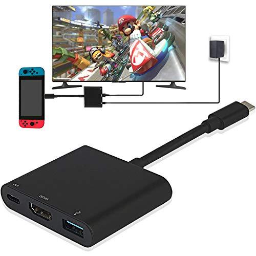 Adaptateur HDMI 4K 1080 pour Switch USB Type C Convertisseur Cȃble pour Switch/Macbook Pro/Galaxy S8
