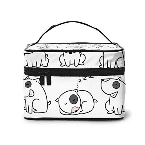Bull Terrier - Bolsa de cosméticos para perro, bolsa de maquillaje, bolsa...