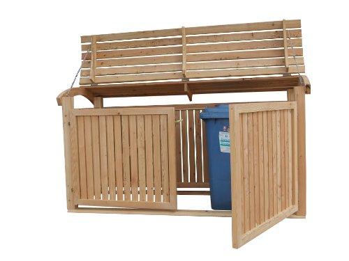 Massive Mülltonnenbox Holz, Modell Mailo, für zwei 240 Liter Mülltonnen - 3