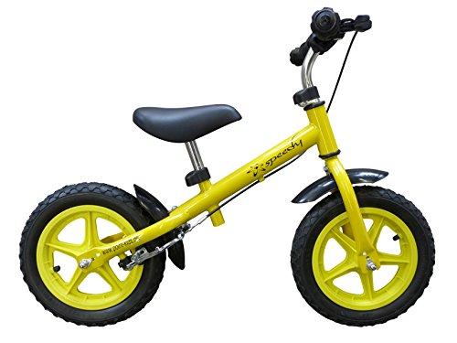 point-kids vélo sans pédales pour Enfant vélo sans pédales 12 Pouces, Frein-Jaune