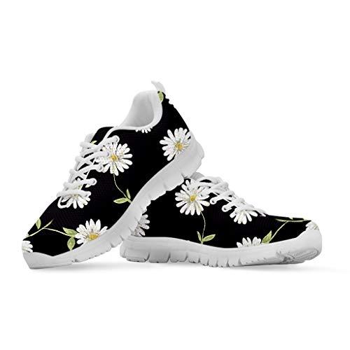 Woisttop Zapatillas de deporte con cordones para mujer Diseño especial Cómodo y transpirable Correr Correr para mujer Zapatillas de goma antideslizantes Color de tenis Talla 41 EU