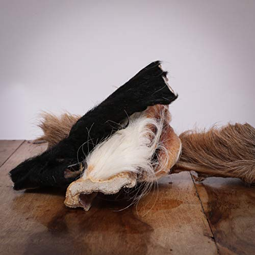 Hitzegrad® Rinderkopfhaut mit Fell, 800 g - Kauartikel für Hunde in Premiumqualität