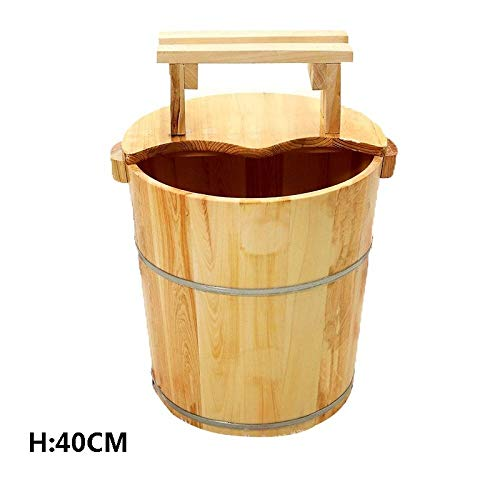 Fantastic Prices! Wooden Foot Bath, Pedicure Basin Multifunctional with Lid Foot Tub Barrel Pedicure...