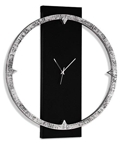 Pintdecor Bague Brillante Montre, MDF, argenté/Noir, 80 x 70 x 7 cm, fabriquée en Italie