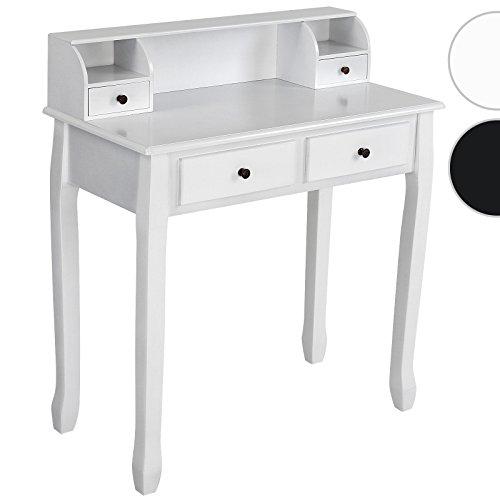 Miadomodo Schminktisch / Make-Up-Kommode (4Schubladen) antik-modernes Design, für Schlafzimmer, Kommode erhältlich in schwarz und weiß