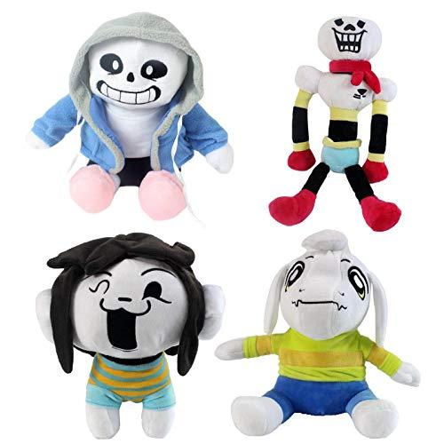 4 Pcs Undertale Plush Toys Doll 20-30cm Undertale Sans Papyrus Asriel Toriel Temmie Chara Frisk Stuffed Plush Toys Kids