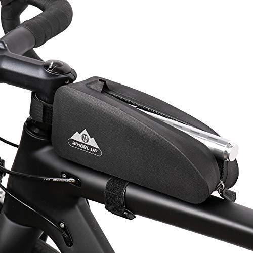 Ueohitsct Bicicleta delantera marco bolsa bolsa de bicicleta impermeable bolsa de almacenamiento accesorios de ciclismo