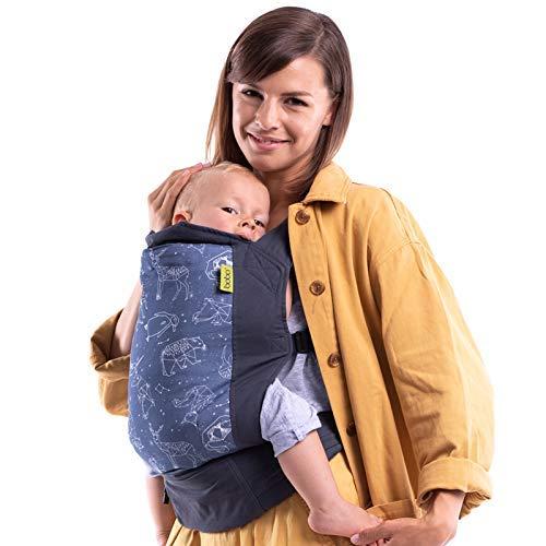 Boba Babytrage Classic 4Gs Constellation - Babytragetasche im Rucksack Stil – Tragen Sie Ihr Kind auf dem Bauch wie auch auf dem Rücken, für Babies ab 3kg bis zu Kleinkindern bis 20kg