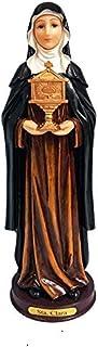 """12"""" Santa Clara Statue Saint Clare Catholic Image Sculpture"""