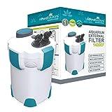 AllPondSolutions 1400EF Aquarium External Fish Tank Filter 1400L/H - Free Filter Media