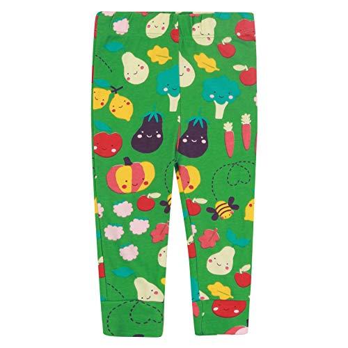 Grüne Kinder-Leggings für Mädchen, weiche Bio-Baumwolle, zum Anpflanzen von Obst und Gemüse Gr. 18-24 Monate, grün
