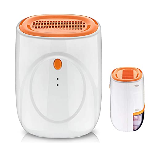 QCSMegy Deumidificatore sicuro Deumidificatore per la casa Deumidificatore portatile con serbatoio dell'acqua rimovibile, capacità di 500 ml, capacità di deumidificazione di 200-300 ml/24 ore, per l'U