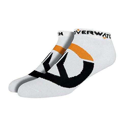 Sokken - Overwatch - Logo Symbool Icon ZWART pack-of-3 j6197-wit