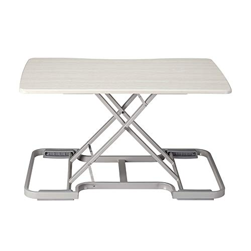Feifei Stand-up Liftable Office Computer Folding Table Removable Free Installation Large Folding Table (Color : White)