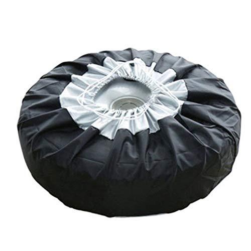NSGJUYT Funda de Tapa de neumáticos Cubierta de neumáticos de Recambio de automóviles Bolsas de Almacenamiento Lleve Tote Poliéster Neumático para automóviles Cubiertas de protección contra Ruedas