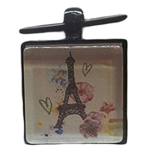 Lindo colgante de torre Eiffel, adornos de piedras, hecho a mano