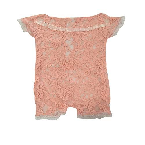 PZNSPY Pasgeboren Fotografie Props Baby Kostuum Prinses Leuke Peuter Meisje Kleding Handgemaakte Baby Meisje Kant Romper Jumpsuit Wit 17