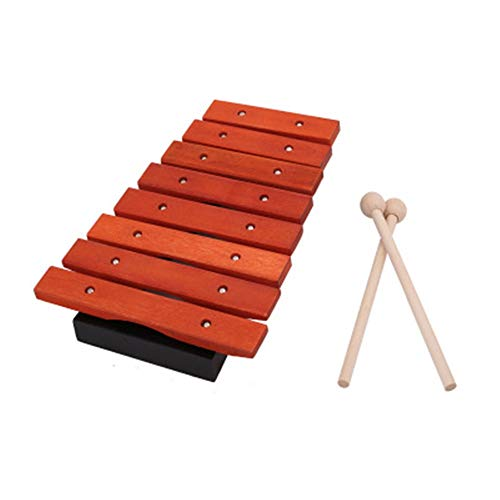 Hammering Pounding Toys Best Toddler Gift Pounding Hammer Shape Xylophone Toys Piano Pounding Bench for Kids Educational Set Boy Girl Baby Toddler Kids Learning (Color : Natural, Size : 16.5x25cm)