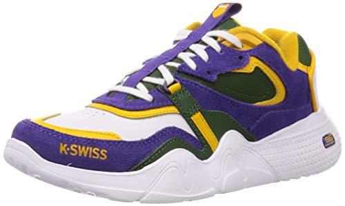 K-Swiss Damen CR-TERRATI Sneaker, Mehrfarbig (Wht/Grnrpstrs/Hltrp/Gldnr 930), 42 EU