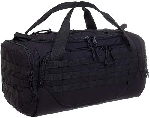 Wisport Sport Bag 50L | Survival Bag | Borsa da Viaggio Grande Nero | Weekender Bag | Borsa Nera per Il Tempo Libero Signore e Signori | 50 Litri | Cordura | Nero | + UP Tube Cloth | Cicogna