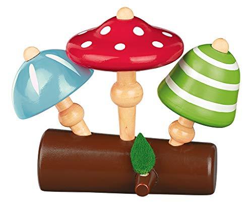 moses- Juego de 3 peonzas de Madera para niños a Partir de 3 años, Color carbón (16121)