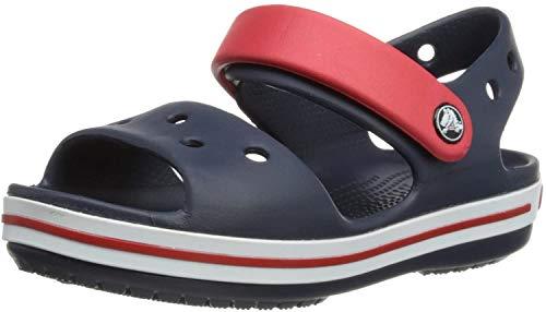 Crocs Sandale Roge Mixte Enfants, Infradito Unisex-Bambini, Blu (Marine/Rouge 485), 28/29...