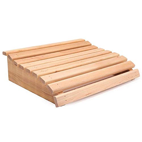 Sentiotec Sauna Kopfstütze Schwarzerle 10 x 33 x 28 cm ergonomisches Sauna Holzkissen