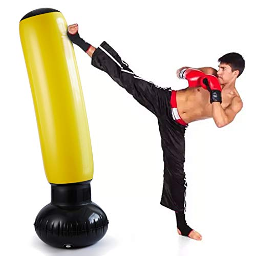 Inflatable Punching Bag for Adults, Indoor Boxing Punching Bag for Kids, Women with Stand,Boxing Punching Training Bag for Relieving Pressure
