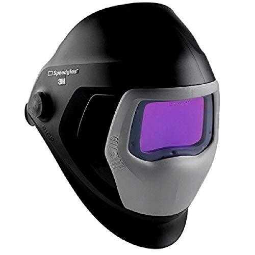 3M Speedglas Welding Helmet 9100, 06-0100-30iSW, with Auto-Darkening Filter 9100XXi 3 Arc Sensors for MMAW TIG MIG Tack Plasma Arc Welding and Grinding Mask, 1 Each