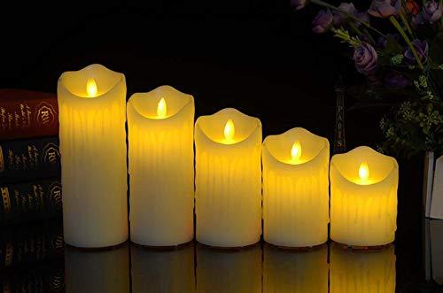 ACHICOO LED Afstandsbediening Opladen Elektronische Kaarsen met Simuleren Vlam Home Party Decoratie