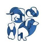 3DREAMS Keksausstecher Frenchy Hunde Ausstecher Mops und Lesezeichen French Bulldog und Mops Ausstecher Weihnachten (Dackel Tassenkeks)