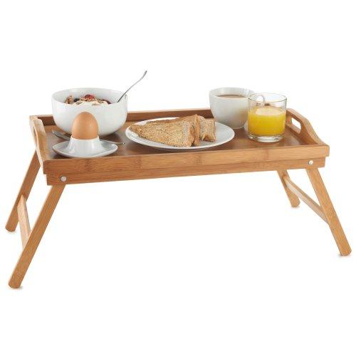 VonHaus_Plateau en bambou pour le petit-déjeuner au lit avec pieds à rabat - VonHaus